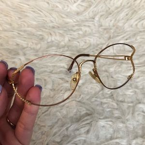 Vintage Christian Dior gold braided glasses frames